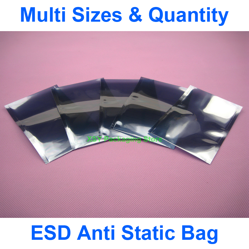 Multi Sizes ESD Anti Static Bag Electronic Packing Pouch (Width 2.8