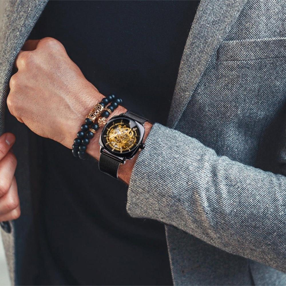 H4d83fcba026f4ee0a07ccf78ead432e4f Jaragar Retro Luxury Classic Design Genuine Leather Belt 3 Dial Roman Number Men Automatic Watch Top Brand Mechanical Wristwatch