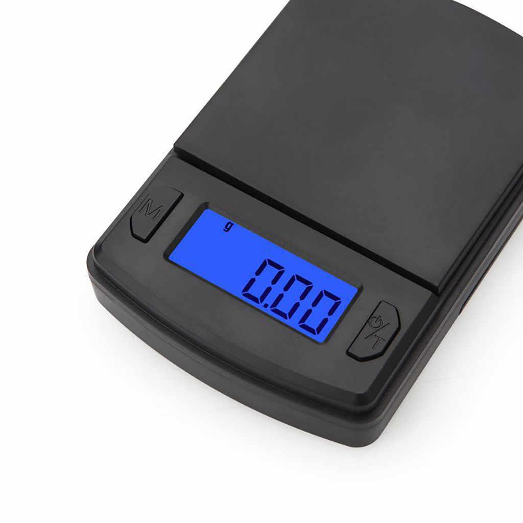 Nowy 500g x 0.01g plastikowy LCD przenośny Mini elektroniczna cyfrowa waga kieszonkowy skrzynka pocztowa biżuteria kuchenna waga skala balansu