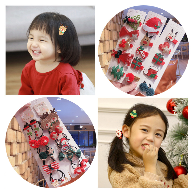 Mosodo Rubber Band Cute Headdress Little Girl Cartoon Rubber Band Kid Headband Flower Hairband Children Hair Accessories 5