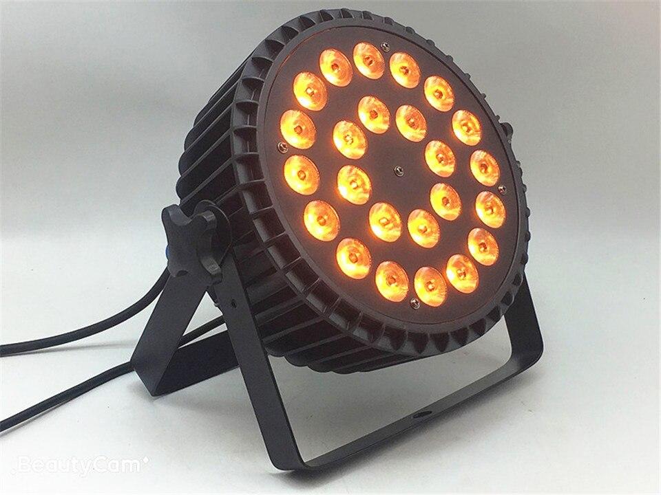 LED Par 24x18W RGBWA UV allume 6in1 LED profession scène lumière RGBW 4in1 éclairage scène lavage lumière