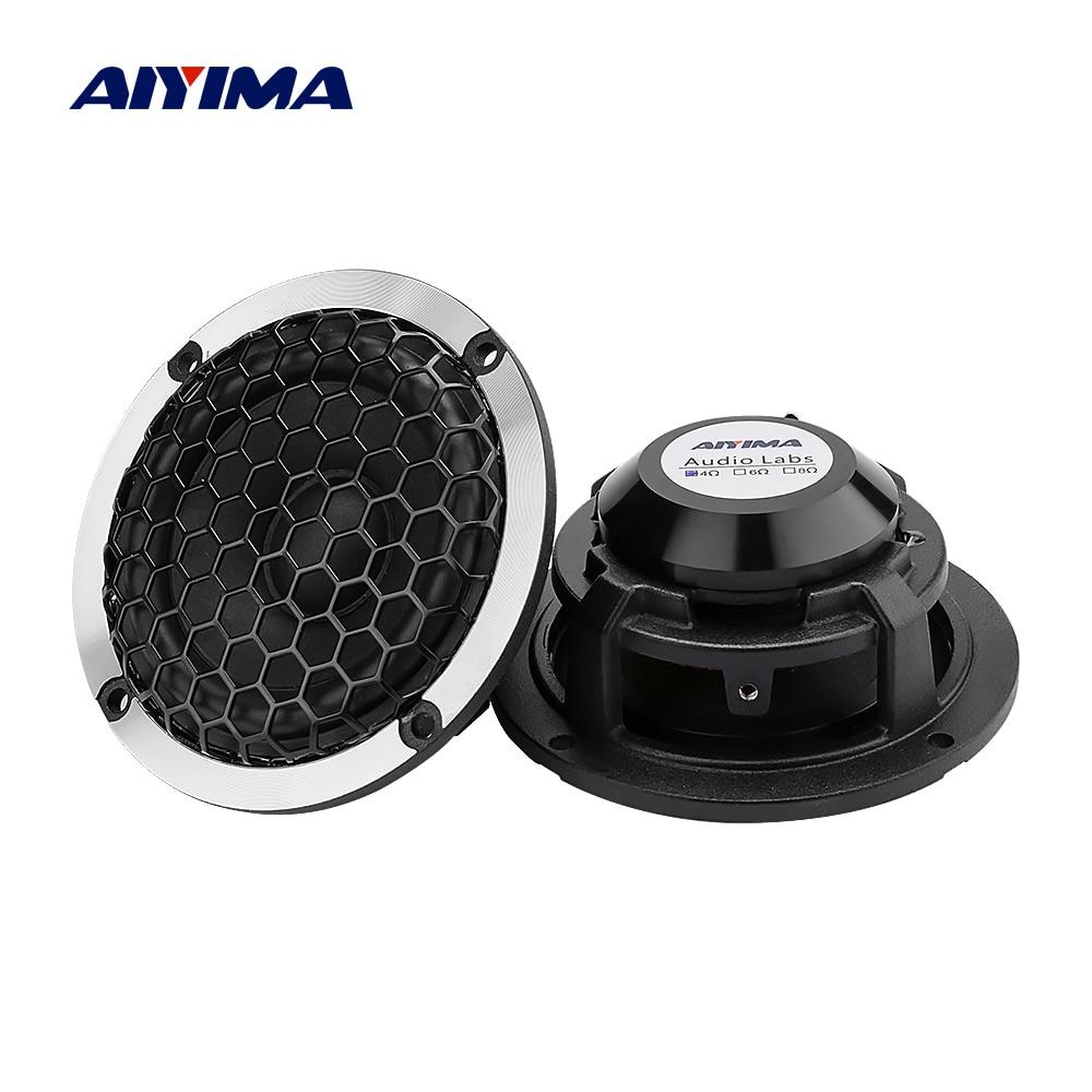 AIYIMA 2Pcs 3 Inch Car Mid Range Speakers Driver 4 8 Ohm 15W Wool Basin Aluminum Frame Sound Music Speaker DIY Car Loudspeaker