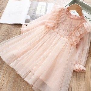 Image 2 - Кружевное платье для девочек; платье принцессы для маленьких девочек; коллекция 2020 года; сезон весна