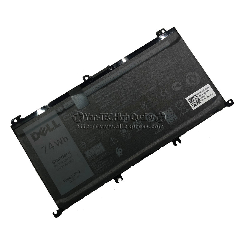 Original Battery For DELL Inspiron Case 15 7557 7559 5577 5576 7566 7567 357F9 P57F Laptop Battery 74wh