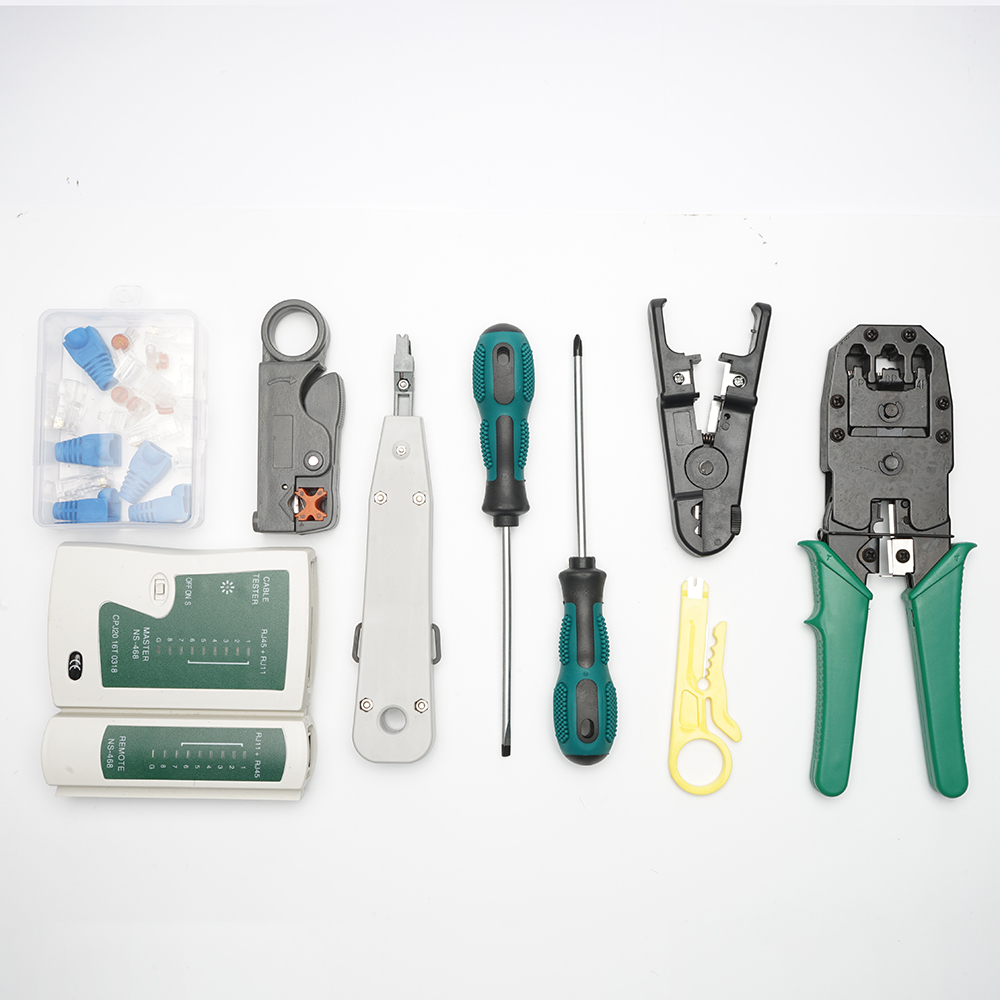 11-in-1Repair tool kit RJ45 RJ11 RJ12 CAT5 CAT5e Portable LAN Network Repair Tool Kit Utp Cable Tester AND Plier Crimp Crimper 2
