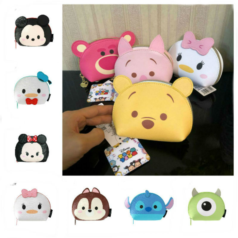 100% Genuine Disney Minnie Mickey Stitch Multi-function Cosmetic Bag Cartoon Pocket Purse Children Toy Kids Gift Hot Sale