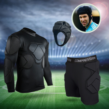 Новая Профессиональная форма вратаря футбольное тренировочное оборудование футбольный шлем EVA толстая губка защитное оборудование вратаря