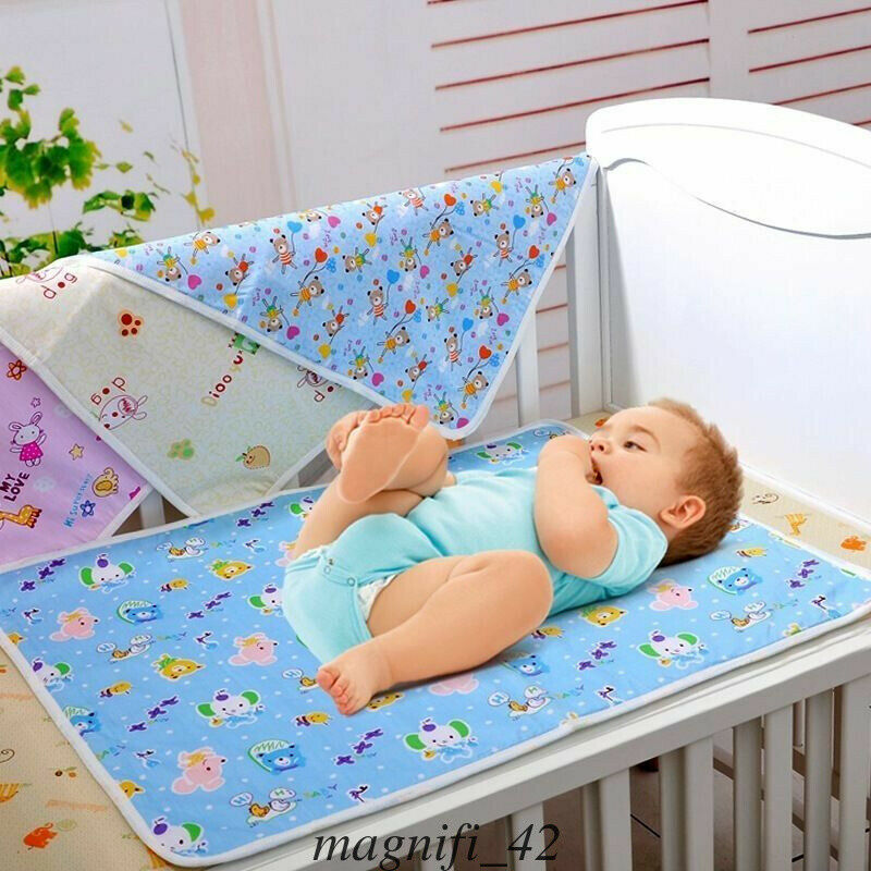 Baby Waterproof Sheet Urine Changing Pads Urine Pad Cartoon Reusable Infant Bedding Nappy Burp Mattress Changing Mat