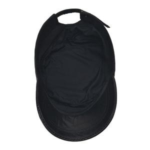 Image 5 - [AETRENDS] Black sheepskin genuine leather baseball cap men branded flat caps dad hat outdoor leather hats gorras planas Z 5296