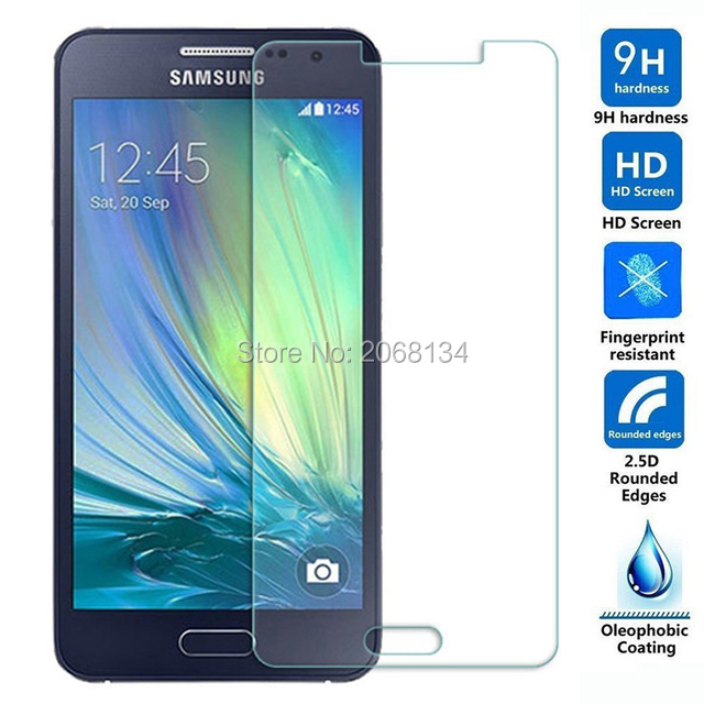 For Samsung Galaxy A3 Tempered Glass 9H Protective Film Screen Protector for A300 A300f sm-a300f sm-a300fu 2015 Guard Shield