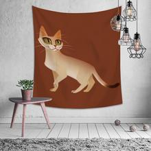 Cartoon Animal Cat Fox Elephant Tapestry Hippie Mandala Wall Hanging Bedroom Polyester Travel Camping Psychedelic Tablecloth natural animal deer flamingo tapestry hippie mandala wall hanging bedroom polyester travel camping psychedelic tablecloth