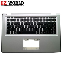 新オリジナルシルバーパームレスト大文字デドイツバックライトキーボードレノボヨガ 2 13 Yoga2 13 C カバー 90205151