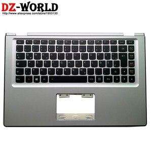 Image 1 - New original Silver Palmrest Upper Case With DE German Backlit Keyboard for Lenovo Yoga 2 13 Yoga2 13 Laptop C Cover 90205151