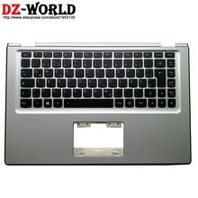 Novo original prata palmrest caso superior com de alemão teclado retroiluminado para lenovo yoga 2 13 Yoga2 13 portátil c capa 90205151