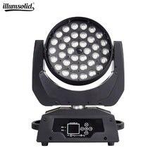 LED lavage Zoom lumière principale mobile Lyre 36x12W éclairage de scène DMX512 pour DJ Disco fête barre lumières expédition rapide