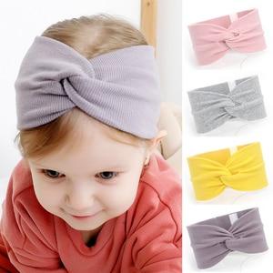 Baby Turban Twisted Knot Autumn Winter Newborn Kids Girl Hat Elastic Children Headbands Hairband For Girls Baby Hair Accessories