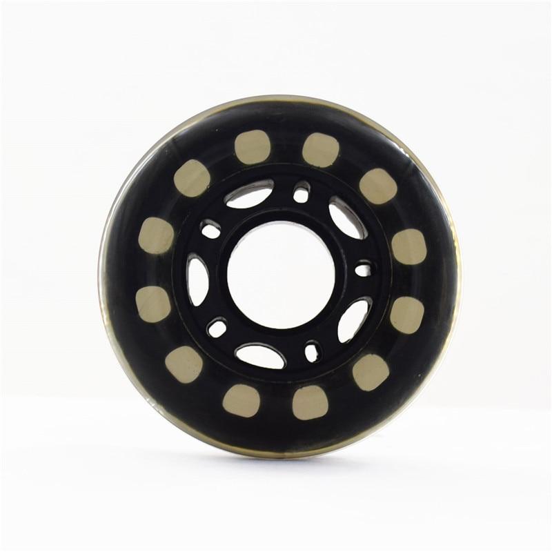 8 Pcs/set 64 70 72mm Blue 82A Kid's Wheel,Black Translucent Children Wheels For Inline Skate Roller Skates Scooter, 24mm Width