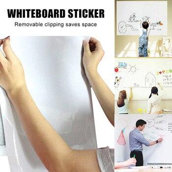 Stickerboard wielokrotnego użytku Roll Up biały pokładzie 45cm x 200cm usunąć tablica naklejki z 3 długopisy DJA99