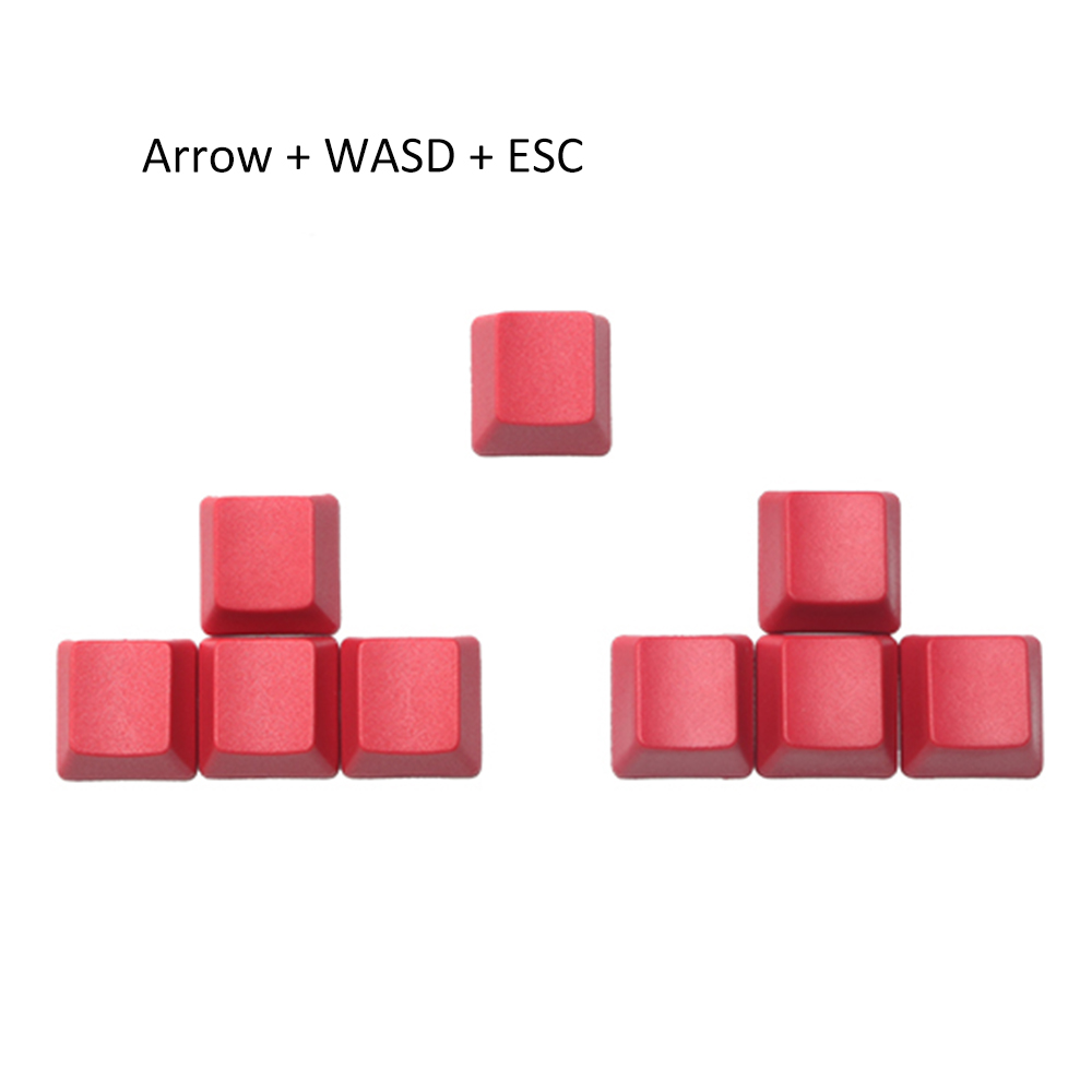 Keyboard keycaps PBT Red Color No Character Keycaps ESC Arrow WASD Spacebar Caps for Mx Switch Mechanical Keyboard Color : Keycap 9