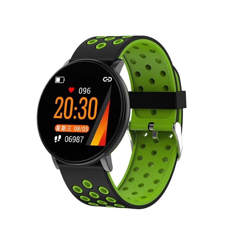 Спортивные Смарт-часы для мужчин, водонепроницаемые Смарт-часы для измерения артериального давления для женщин, монитор сердечного ритма, Bluetooth, умные часы для Android IOS - Цвет: W8C Black green