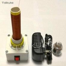 Bobina Tesla con un solo tubo de brillo autoexcitado y fuente de alimentación