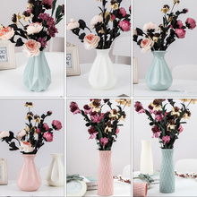 Plastic Vase Ornament Flower-Pot Origami Home-Decoration Living-Room Nordic-Style Creative