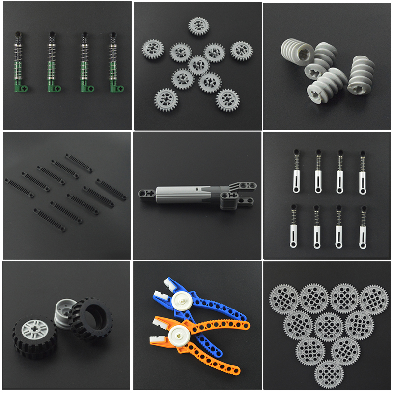 Technology Accessories Bulk Bricks MOC Parts Multiple Sizes Technic 62821 Building Blocks Educational Compatible All Brands