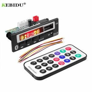 Image 2 - KEBIDU placa decodificadora WMA WAV con pantalla a Color, módulo de Audio de 5V y 12V, USB, TF, Radio FM, accesorios para coche
