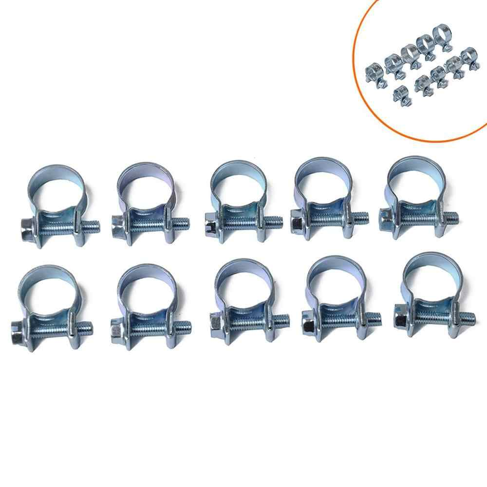 10Pcs Mini Clamp 7-18Mm / Fuel Pipe Hose Clamp / Air Hose Clamp Auto Parts