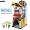 XEOLEO Коммерческая полностью автоматическая машина для запечатывания чашек машина для приготовления чая с пузырьками подходит для 9 5 см чашк...