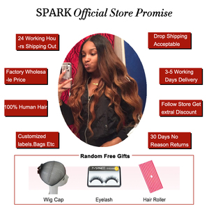 Image 5 - Spark Ombre 3/4 Bundles With Closure Brazilian Human Hair Body Wave Hair Weave Bundles And Closure T1B/4/30 Color For Black Remy