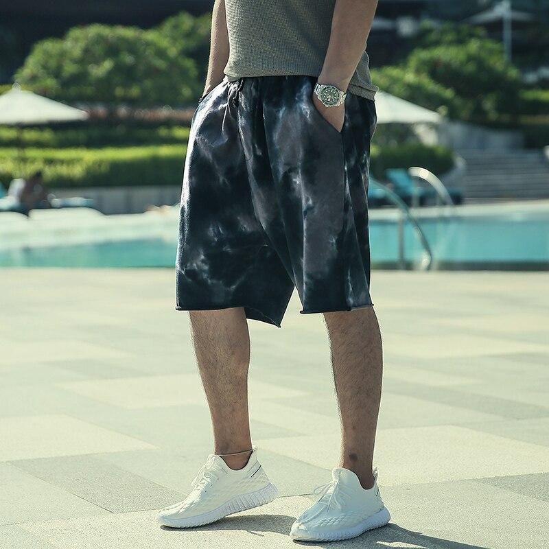 Pad-dyed Pants For Men's Health Pants Loose Leisure Shorts Summer Trendy Men's Sports Pants K1018-2