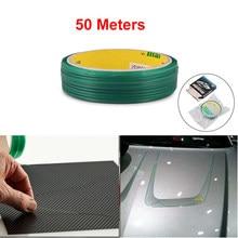 Ehdis acessórios do carro 5/10/20/50m filme de fibra carbono knifeless fita design linha vinil envoltório carro adesivos de corte fita estilo ferramenta