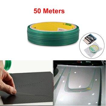 Ehdis 50M Knifeless Băng Thiết Kế Dòng Xe Ô Tô Vinyl Phim Bọc Cắt Băng Keo Sợi Carbon Dao Kiểu Dáng Xe Công Cụ phụ Kiện