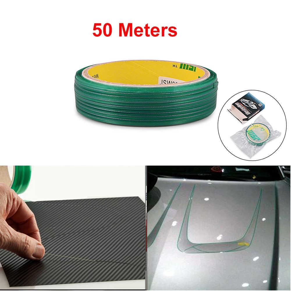 Ehdis fita adesiva de fibra de carbono, fita de envoltório, de 5/50m, para carro, fibra de carbono acessórios de ferramenta de estilização
