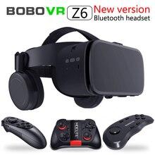 2020 yeni Bobo vr Z6 VR gözlük kablosuz Bluetooth kulaklık VR gözlük Android IOS uzaktan gerçeklik VR 3D karton gözlük
