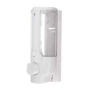 Image 1 - קיר רכוב שמפו סבון Dispenser Sanitizer אמבטיה מקלחת נוזל משאבת קרם (לבן)