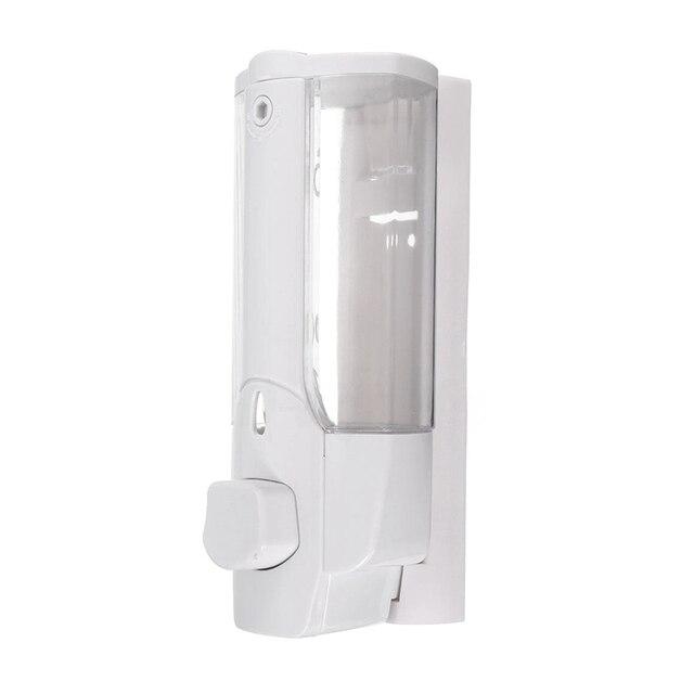 קיר רכוב שמפו סבון Dispenser Sanitizer אמבטיה מקלחת נוזל משאבת קרם (לבן)