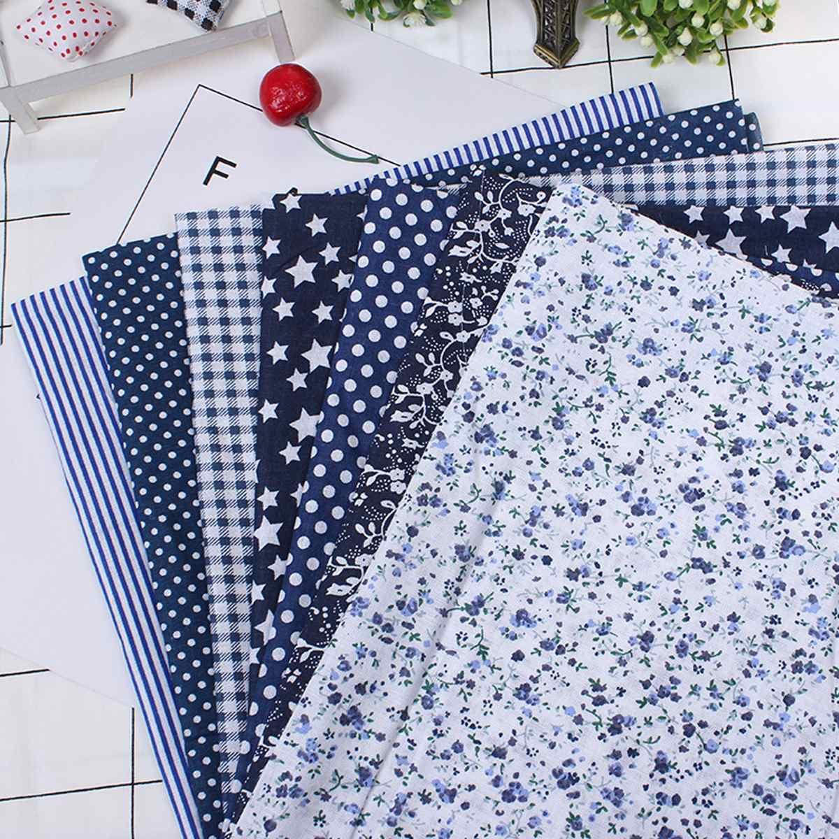 7 Pcs/Set DIY Assorted Pre-Cut Square Bundle Charm Cotton Floral Quilt Fabric Patchwork For Beginner/Practicing Sewing Job