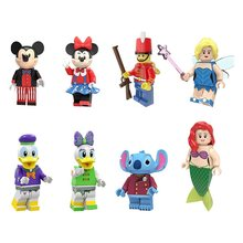 Legoed Cartoon Minifigured Mickey Duck Minnie Mouse Donald Playmobil Daisy Building Blocks Figures Toys For Children Gift(China)