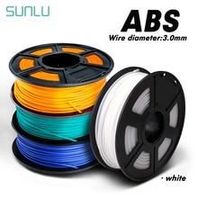 SUNLU Plastic ABS 3D Filament 1.75MM 1KG With Spool Hardness 3D Printer Filament Tolerance +/-0.02mm