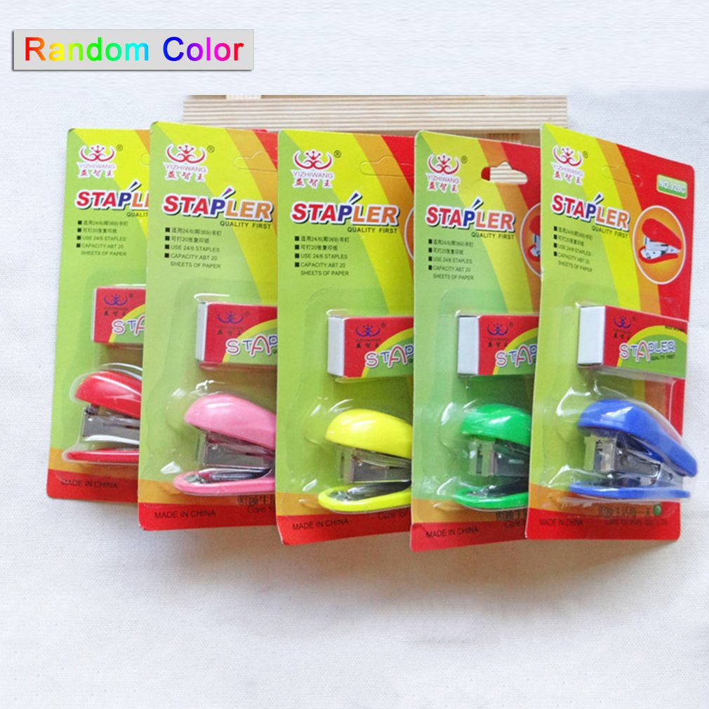 Puzzle King Mini Stapler + Staple Set (random Colors)