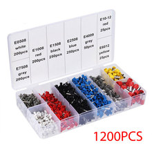800/1200/1800Pcs Insulated Cord Pin End Terminal Bootlace Ferrules Kit Wire Copper Sets