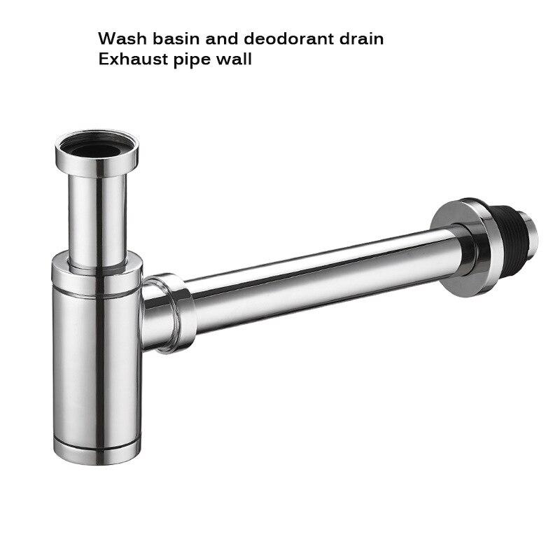 Chrome Brass Bottle Trap Bathroom Kit Round Sink Tube Pipe Modern Designer