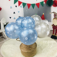 12 Inch Snowflake Birthday Foil Balloon Set Confetti Latex Balloon New Year Home Frozen Party Christmas Decoration Baby Shower 22inch 4d pvc christmas snowflake balloons helium balloon frozen snowflake transparent toy the snow birthday theme xmas new year