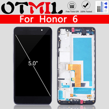 цена на OTMIL Display For Huawei Honor 6 LCD Touch Screen Digitizer with frame for Huawei Honor H60-L01 H60-L02 H60-L12 H60-L04 Assembly