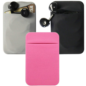 Business Kredit Tasche Klebe Mode Handy Halter Karte Fall Aufkleber Silikon Telefon Beutel Fall Für iPhone Samsung Xiaomi