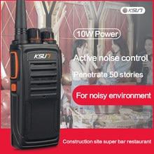 Ksun X-33TFSI walkie talkie inteligente redução de ruído 10 km de longa distância 8w poderoso rádio em dois sentidos cb professinal woki toki