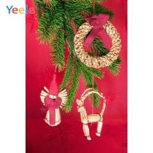 Yeele Christmas Party Photocall Red Pine Doll Decor Photography Backdrops Personalized Photographic Backgrounds For Photo Studio