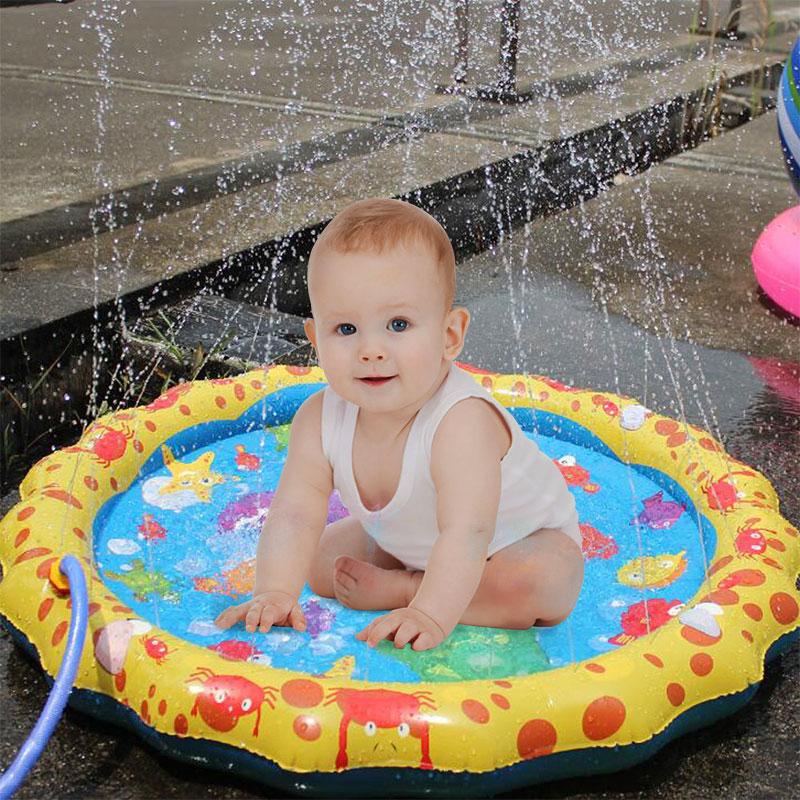Mat Bathroom-Toys Outdoor Water-Mats Spray Swimming-Pool Splash Fun Baby Kids